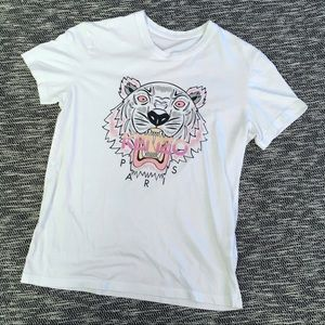 Kenzo White Tiger Short Sleeve Tshirt Small